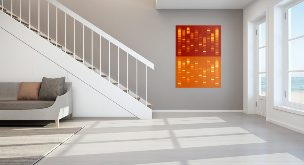 DNA Duo V Artwork Shown by Staircase